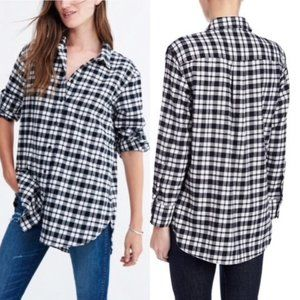 Madewell Flannel Oversized Button Down Shirt XS